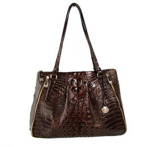 Adina Chestnut Melbourne Leather Tote
